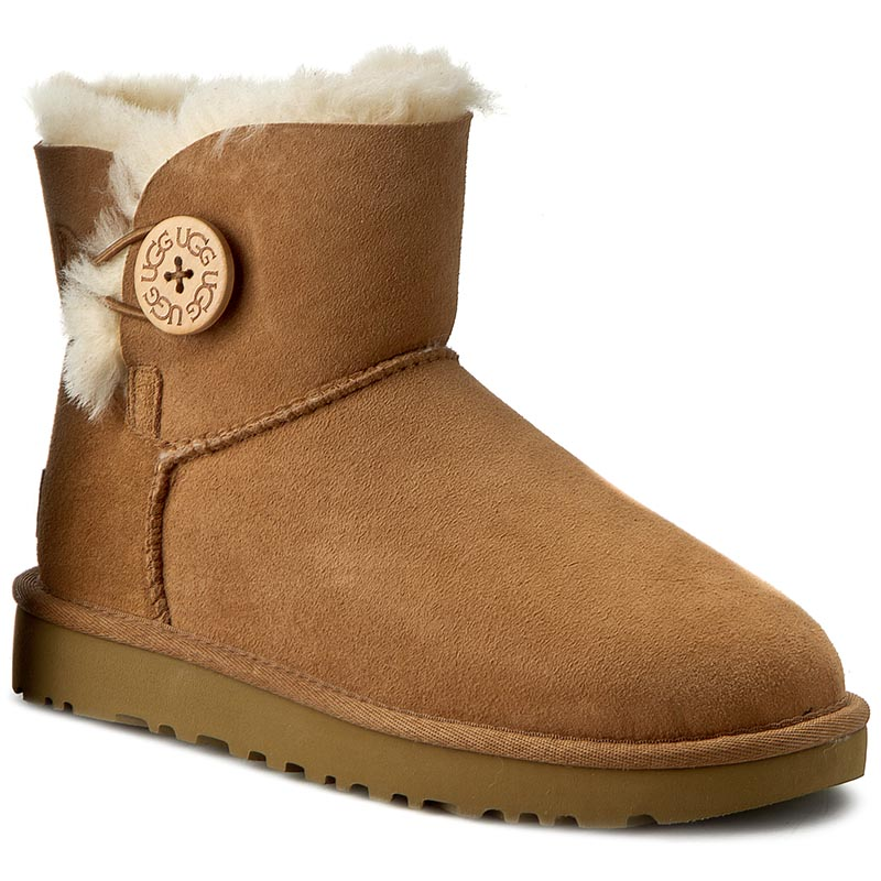 Pantofi UGG - W Mini Bailey Button II 1016422 W/Che