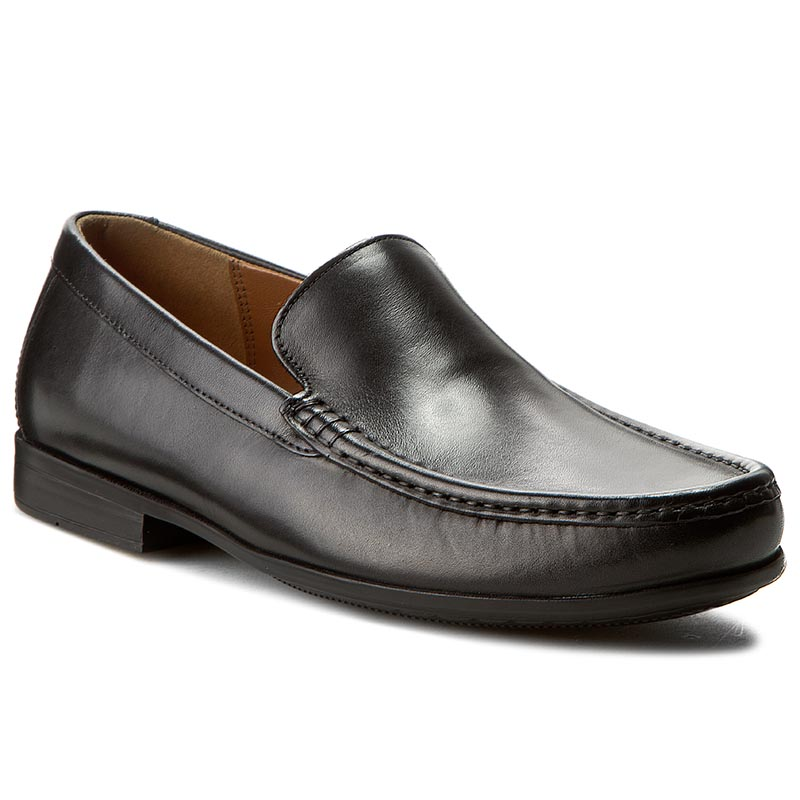 Mocasini CLARKS - Claude Plain 261243127 Black leather