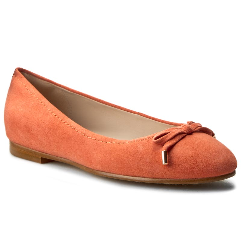 Balerini CLARKS - Grace Lily 261230564 Coral Suede