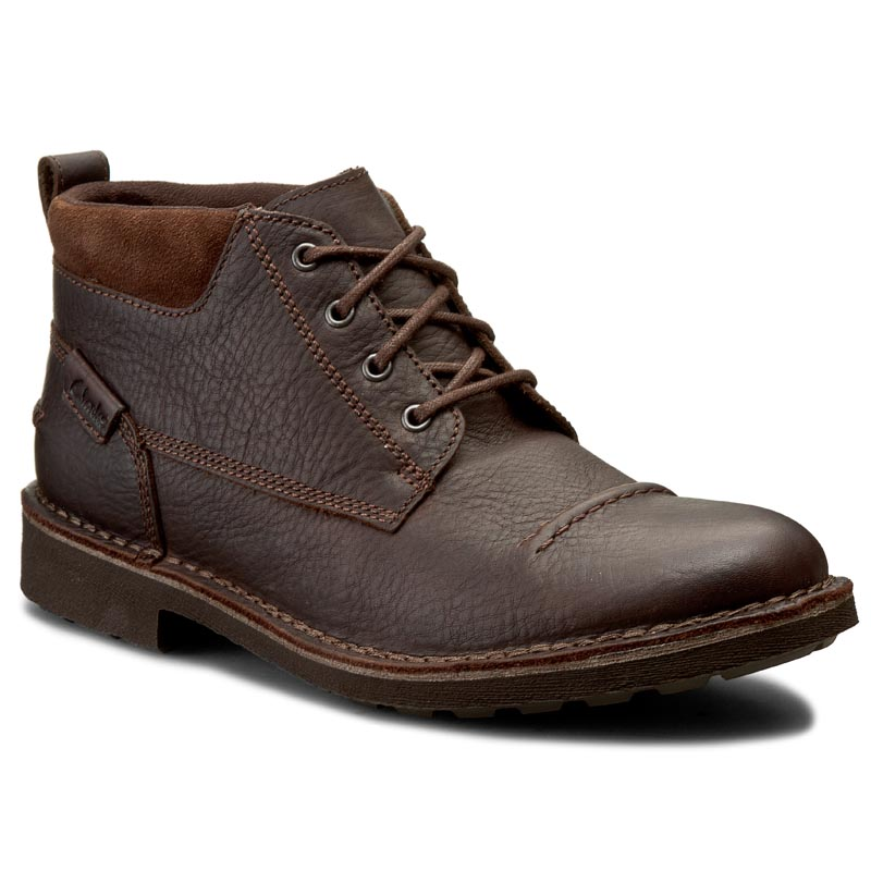 Ghete CLARKS - Lawes Top 261200137 Brown WLined Lea