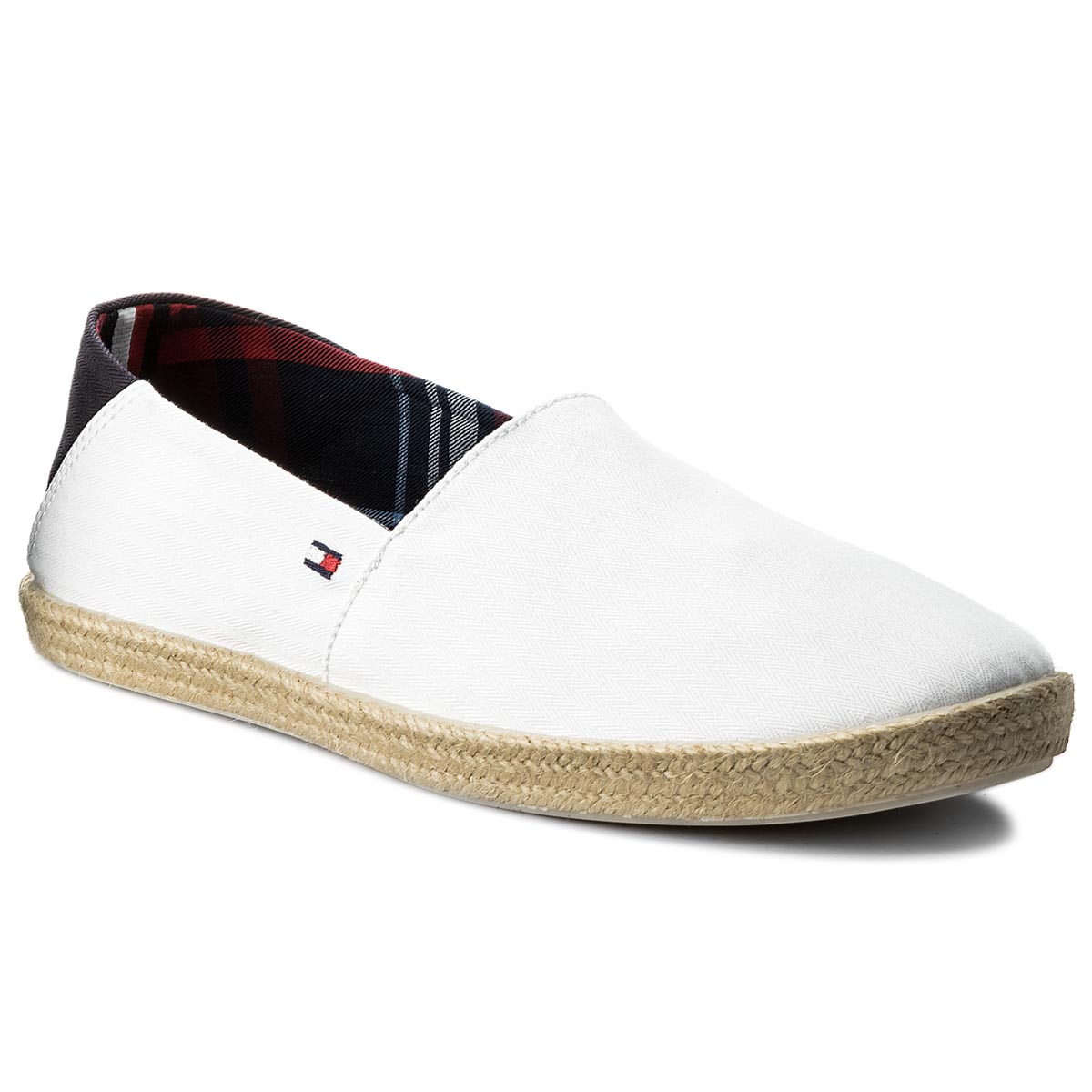 Espadrile TOMMY HILFIGER - Easy Summer Slip On FM0FM00569 White 100