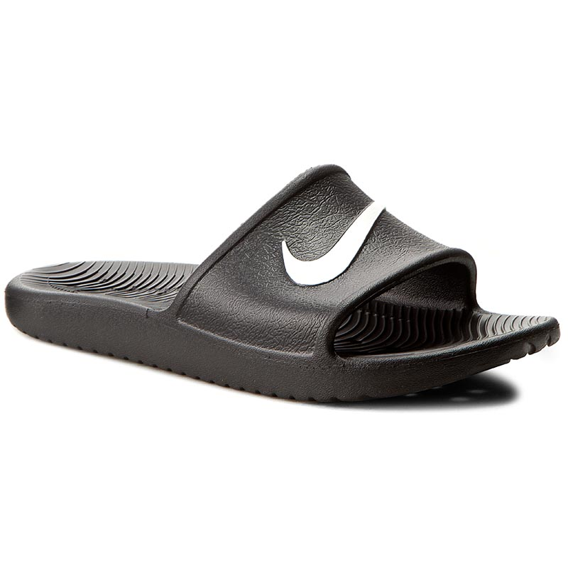 Șlapi NIKE - Kawa Shower 832528 001 Black/White