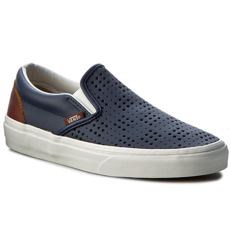 Teniși VANS - Classic Slip-On VN0A38F7MU3 (Leather Perf) Dress Blue