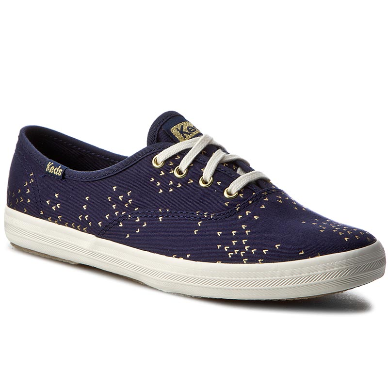 Teniși KEDS - Ch Mini Bird WF56419 Navy/Gold