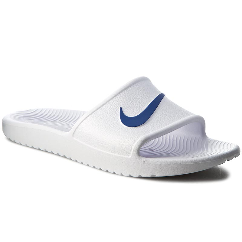 Șlapi NIKE - Kawa Shower 832528 100 White/Blue Moon