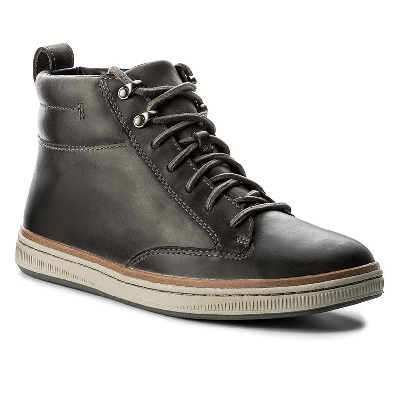 Ghete CLARKS - Norsen Mid 261278327 Dark Grey Leather