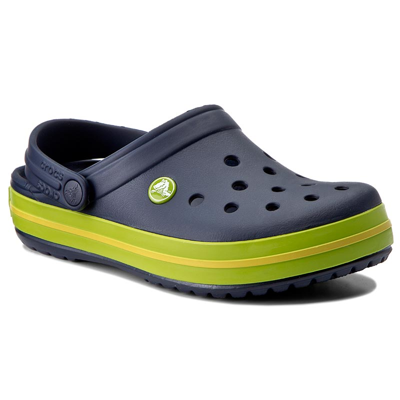 Șlapi CROCS - Crocband 11016 Navy/Volt Green/Lemon