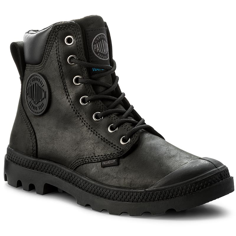 Trappers PALLADIUM - Pampa Cuff Wp Lux 73231-060-M Black/Black