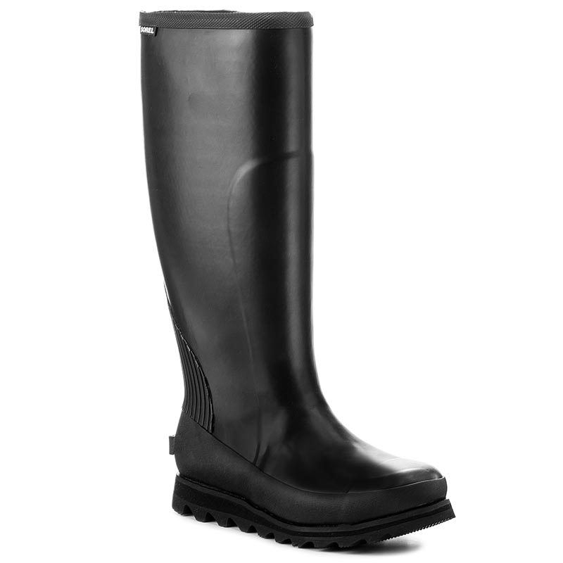 Cizme de cauciuc SOREL - Joan Rain Tall NL2522 Black/Sea Salt 010