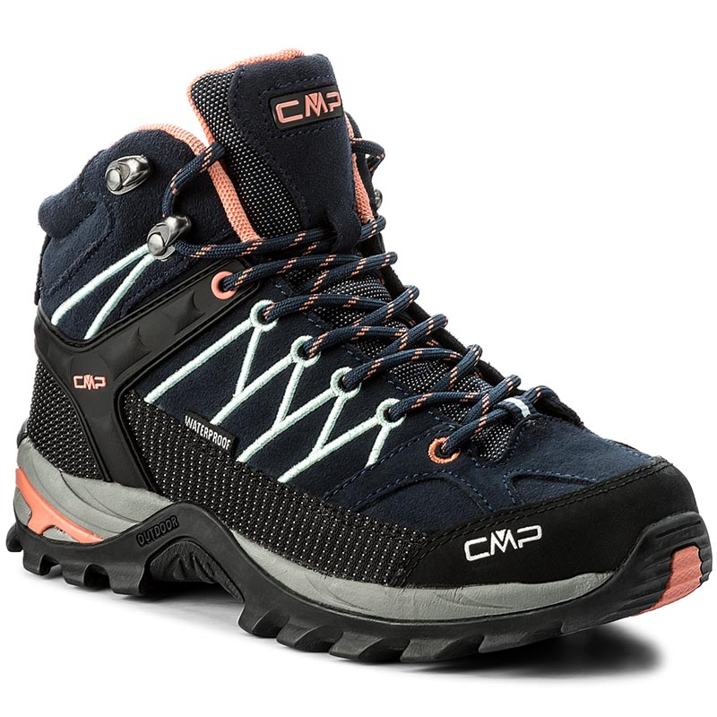 Trekkings Cmp - Rigel Mid Wmn Trekking Shoes Wp 3q12946 B. Blue/Giada/Peach 92ad imagine epantofi.ro 2021