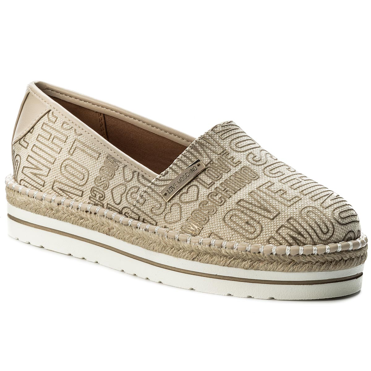 Espadrile LOVE MOSCHINO - JA10083G15IG0901 Can.Emb.Oro/Vt.Nat