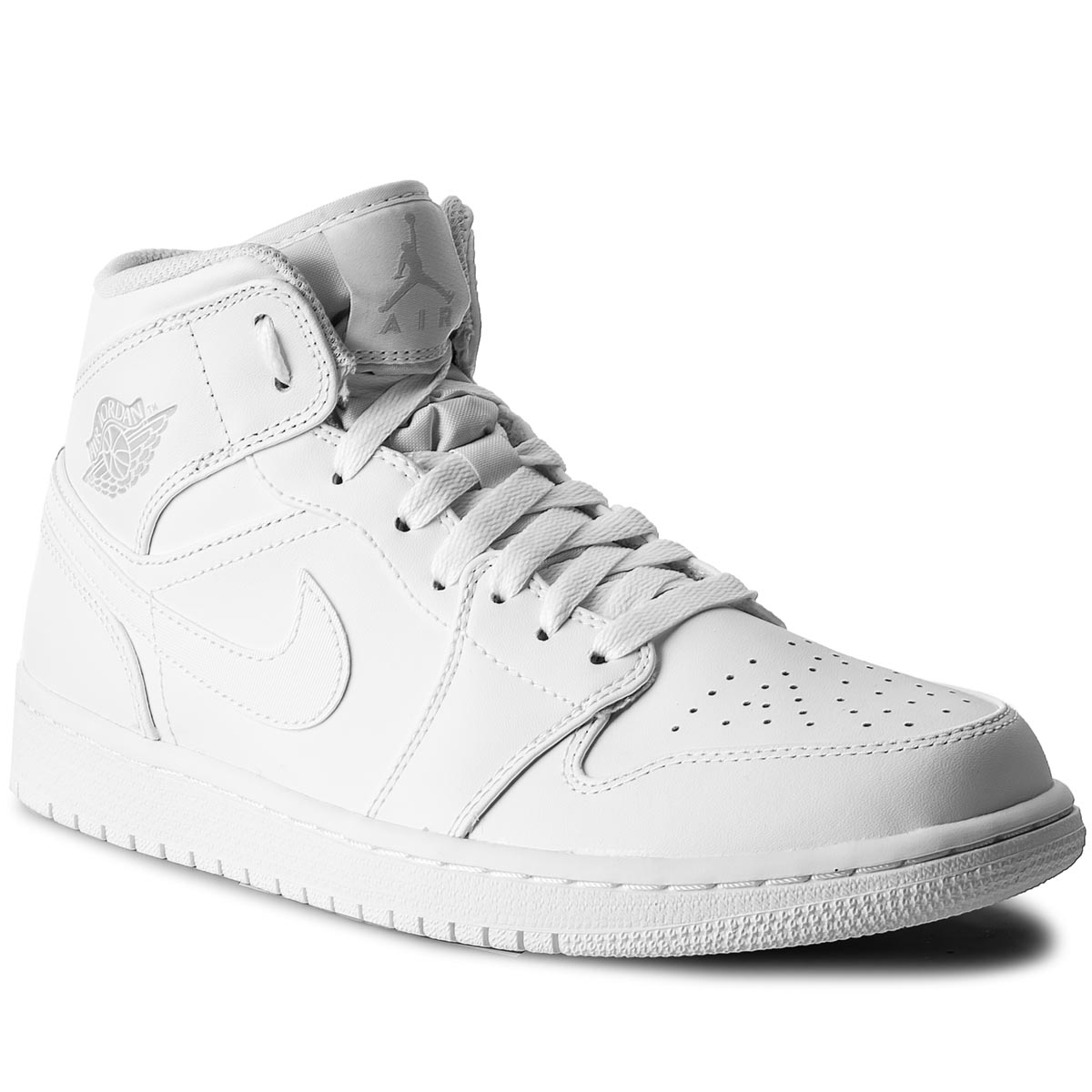 Pantofi NIKE - Air Jordan 1 Mid 554724 104 White/Pure Platinum/White
