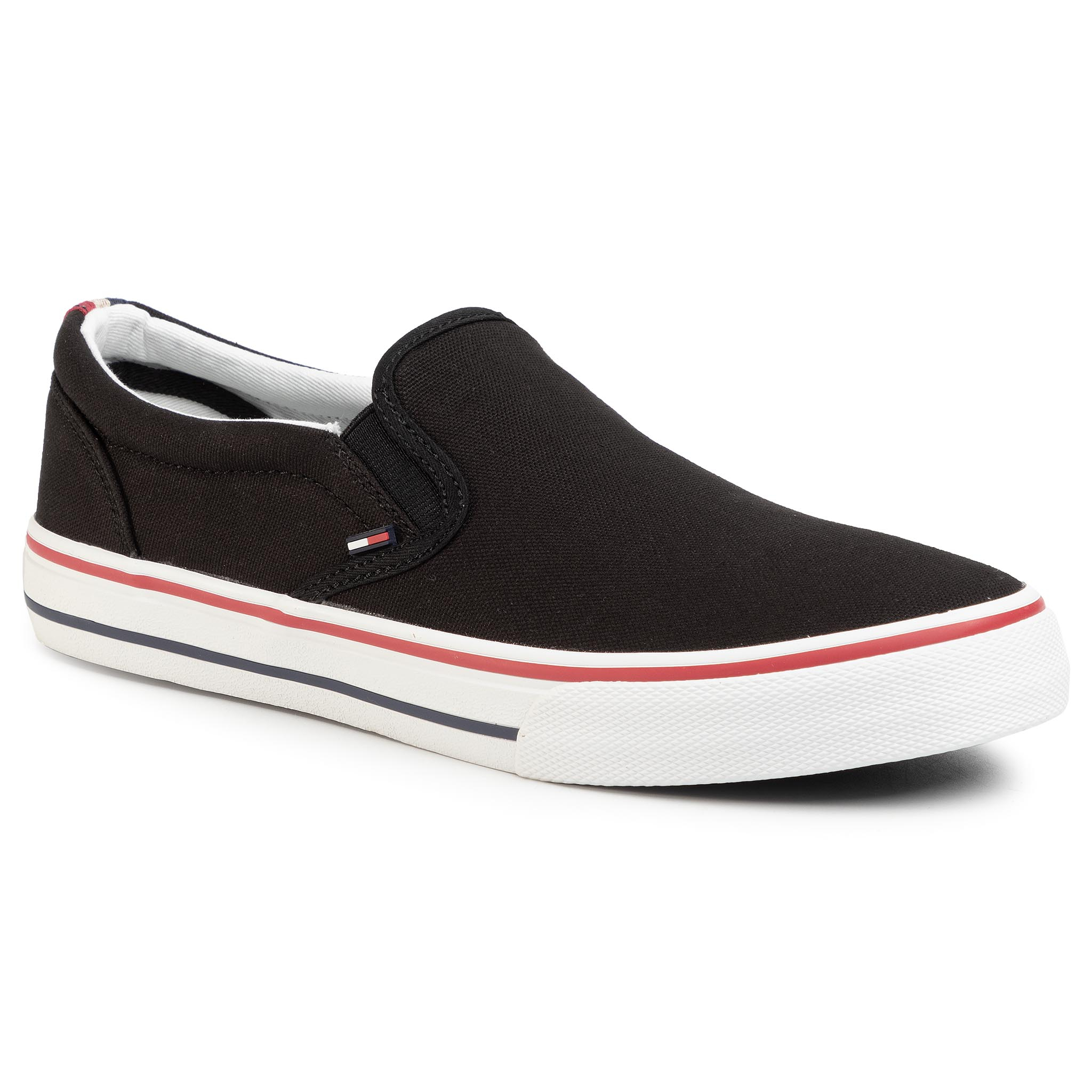 Teniși Tommy Jeans - Textile Slip On Em0em00002 Black 990 imagine epantofi.ro 2021