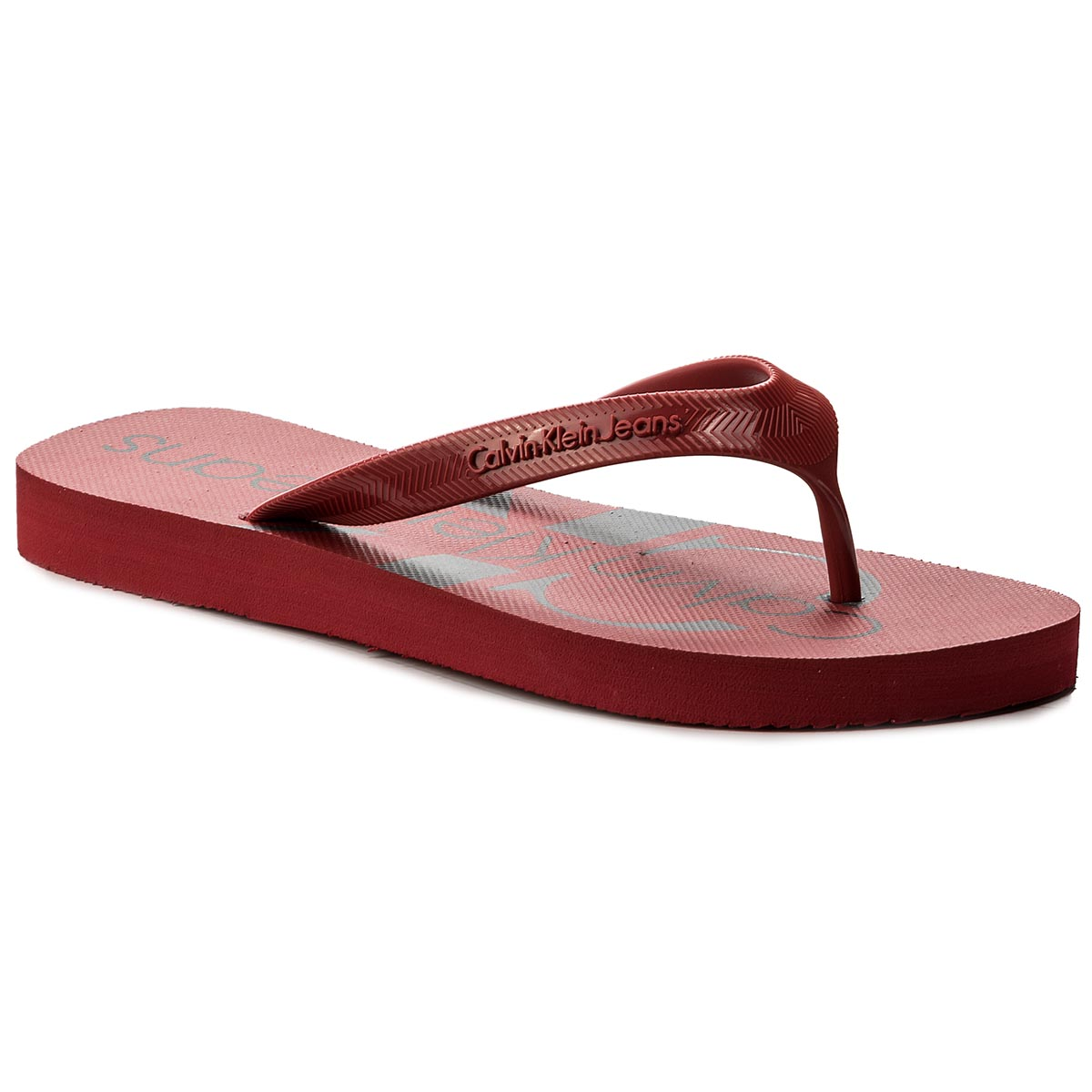 Flip flop CALVIN KLEIN JEANS - Dash Jelly S0063 Dark Red