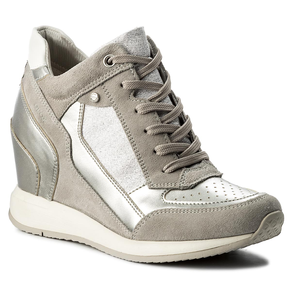 Sneakers GEOX - D Nydame A D540QA 022AS C1355 Lt Grey/Silver