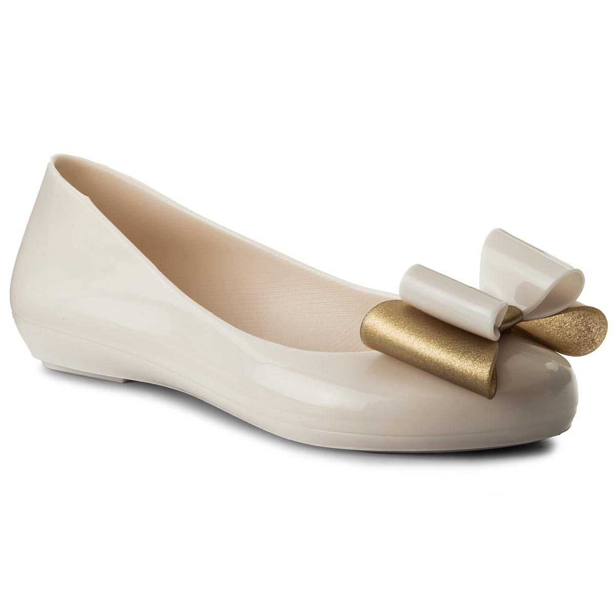 Balerini Zaxy - Pop Bow Ii Fem 82302 Beige 01664 Aa285059 02064 imagine epantofi.ro