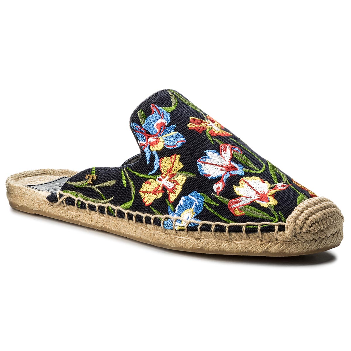 Espadrile TORY BURCH - Max Embrioidered Espadrille Slide 46913 Perfect Nany/Painted Iris 449