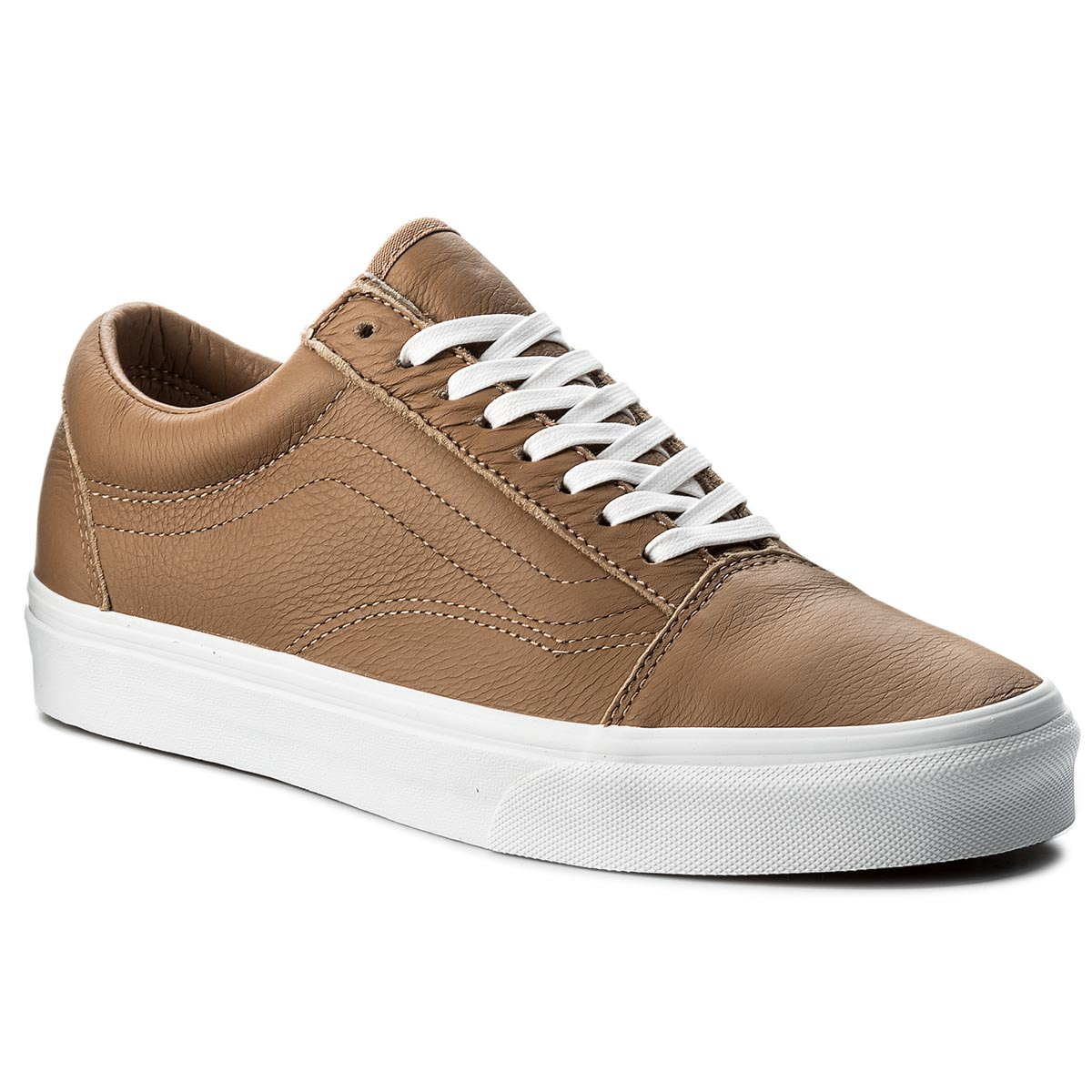 Teniși VANS - Old Skool VN0A38G1R0S (Leather) Tawny Brown/True White