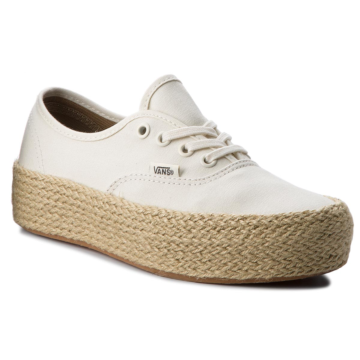 Espadrile VANS - Authentic Platfor VN0A3NAQFS8 Marshmallow
