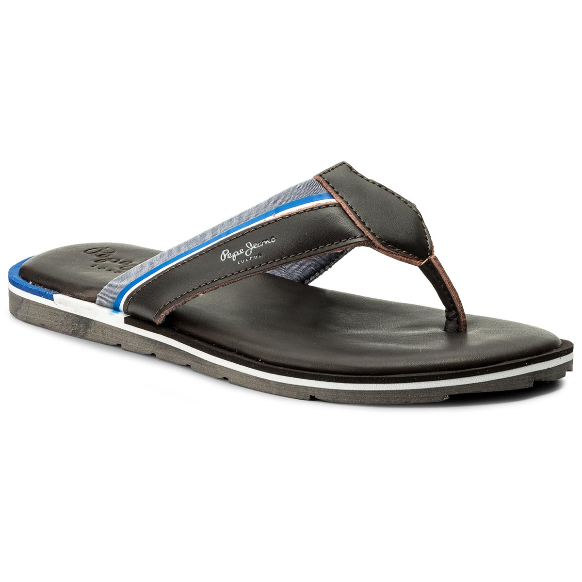 Flip flop PEPE JEANS - Barrel Fabric PMS90050 Dk Brown 898