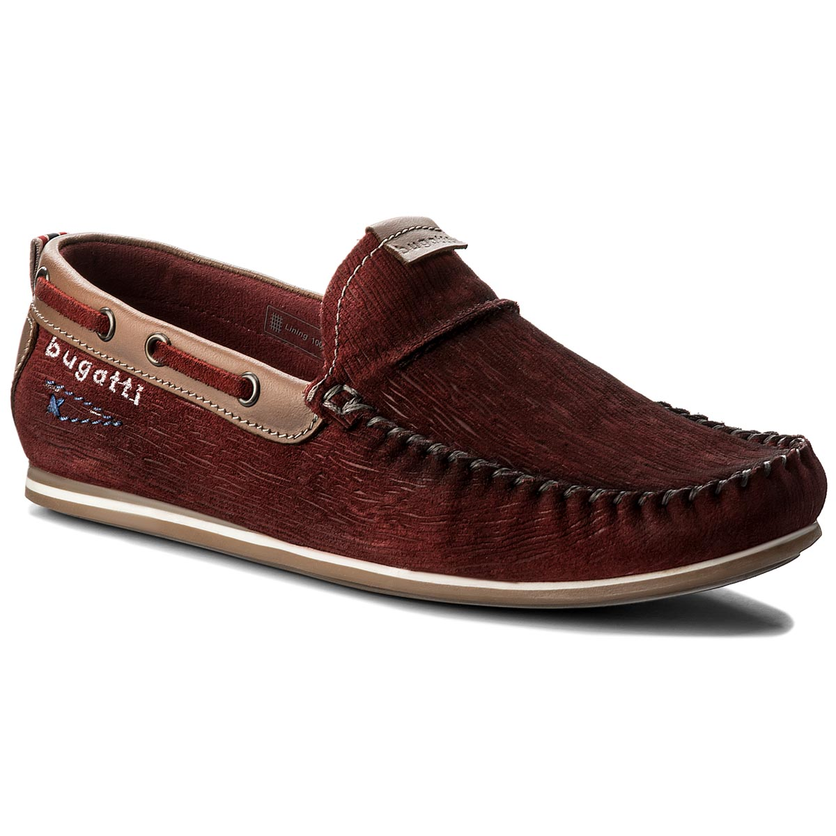 Mocasini BUGATTI - 321-46960-1400-3100 Dark Red