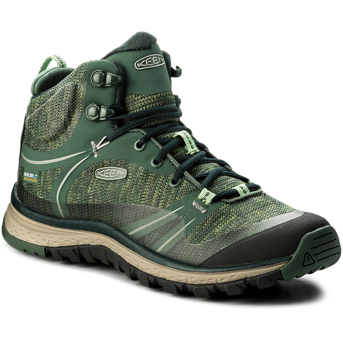 Trekkings Keen - Terradora Mid Wp 1018525 Duck Green/ Quiet Green imagine epantofi.ro 2021