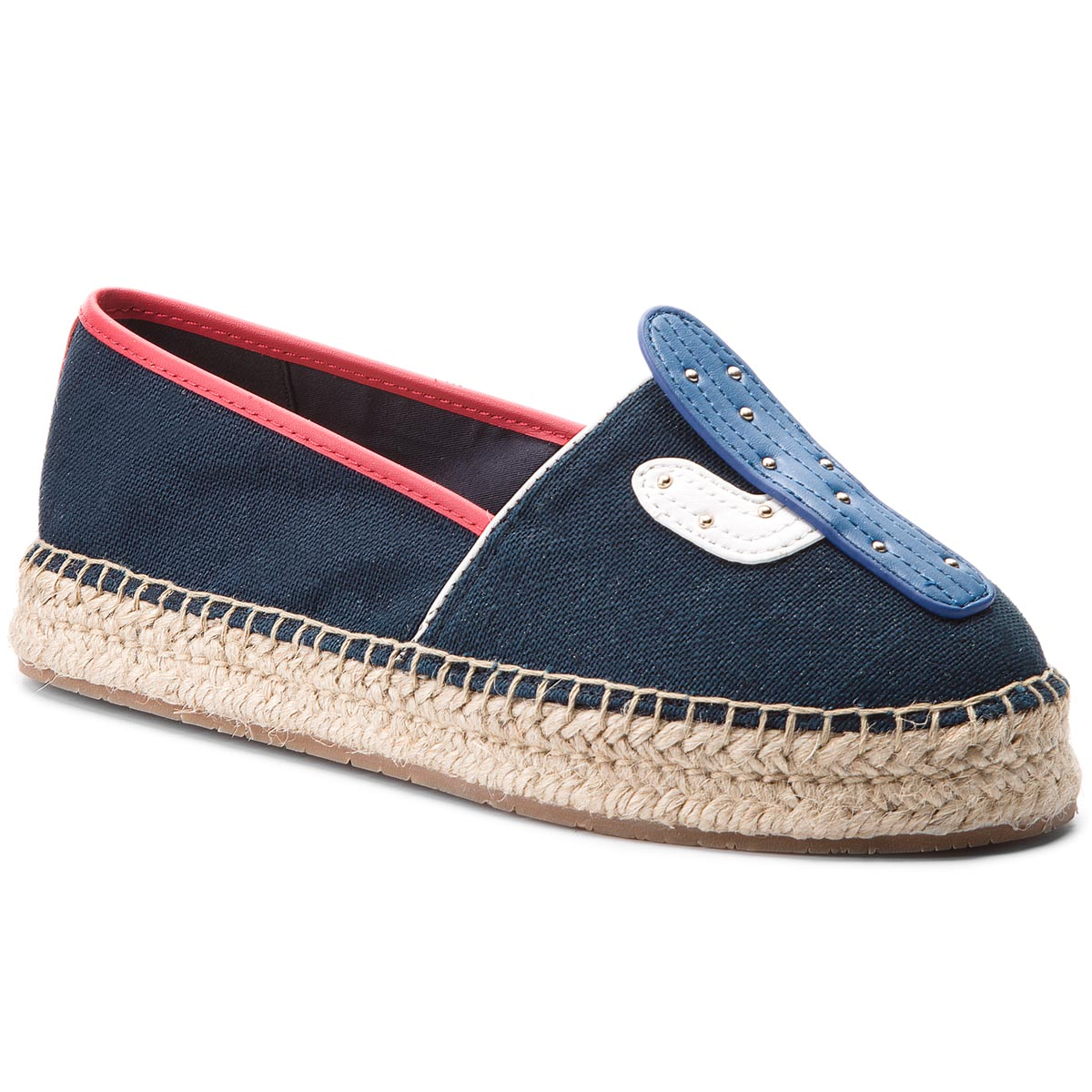 Espadrile TOMMY HILFIGER - Patch Espadrille Corporate FW0FW03389 Midnight 403