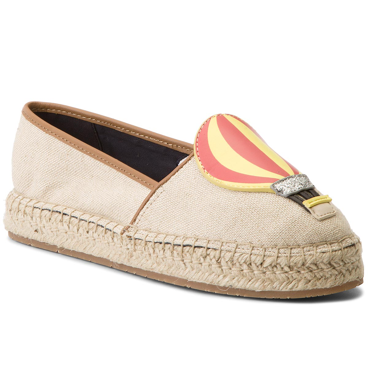 Espadrile TOMMY HILFIGER - Patch Espadrille Balloon FW0FW03549 Tapioca 639