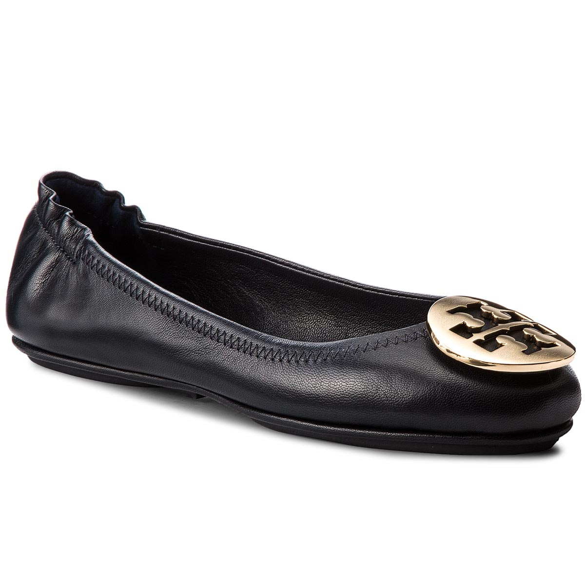 Balerini TORY BURCH - Minnie Travel Ballet With Metal Logo 50393 Perfect Navy/Gold 444