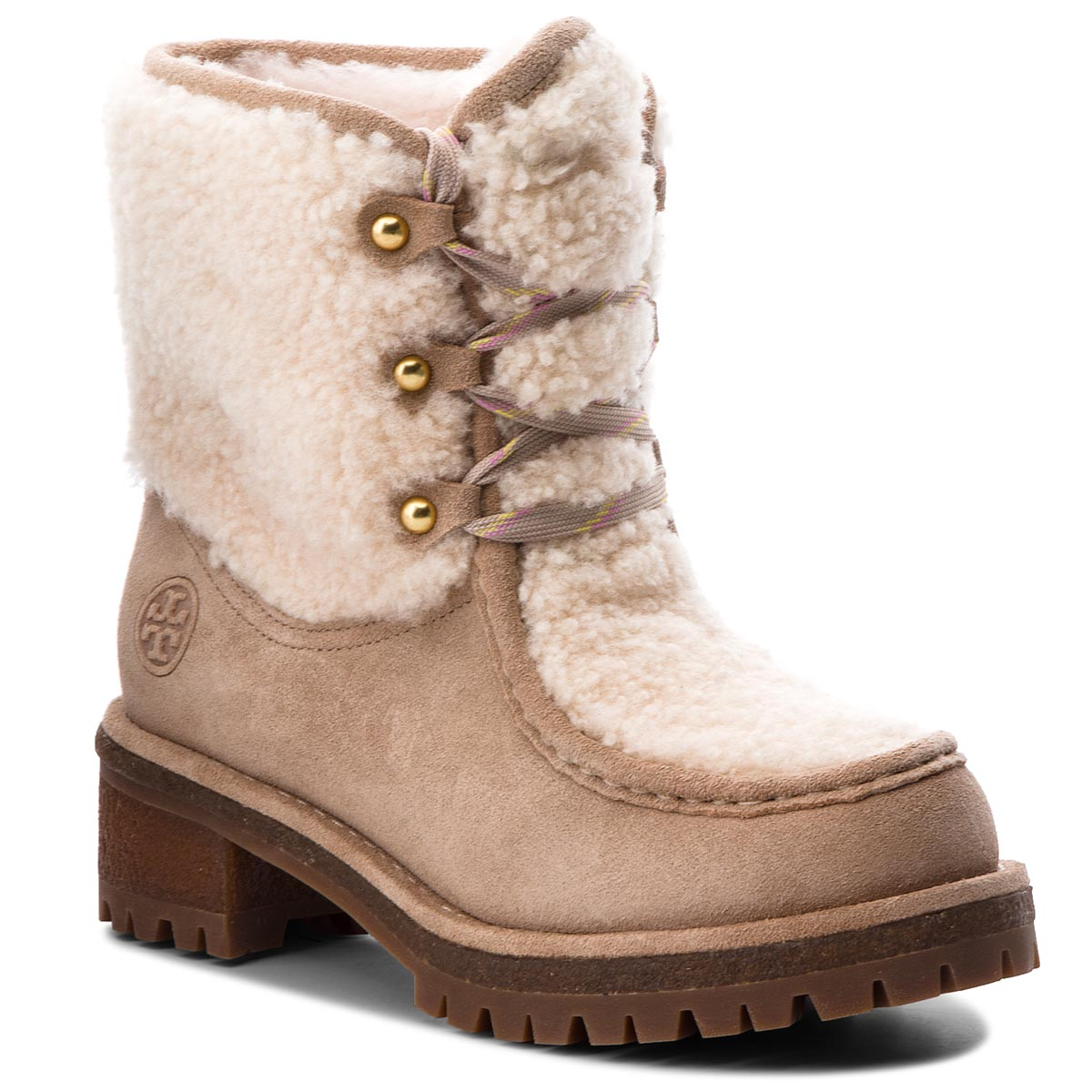 Trappers TORY BURCH - Meadow Boot 49197 Perfect Sand/Natural 256