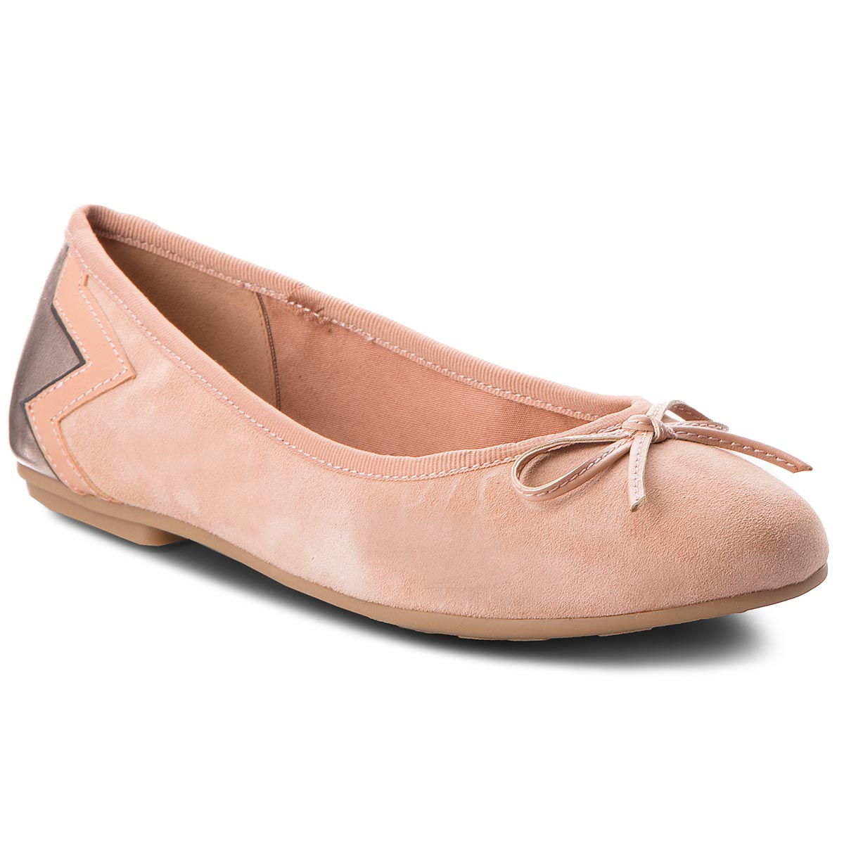 Balerini TOMMY HILFIGER - Elevated Suede Ballerina FW0FW03036 Silky Nude 297