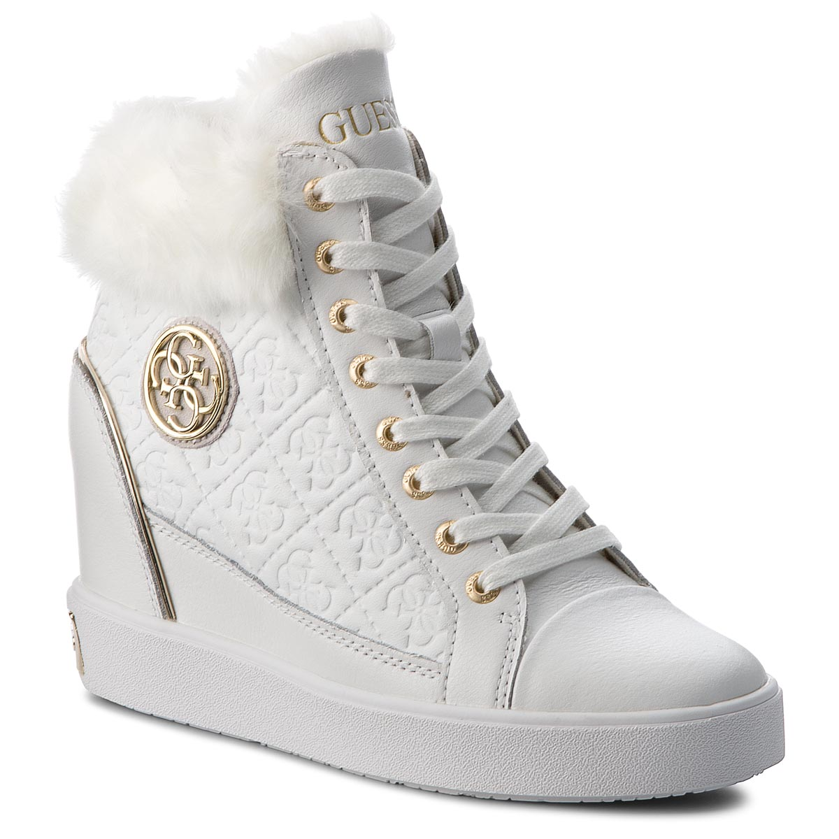 Sneakers GUESS - FLFRR3 LEP12 WHITE
