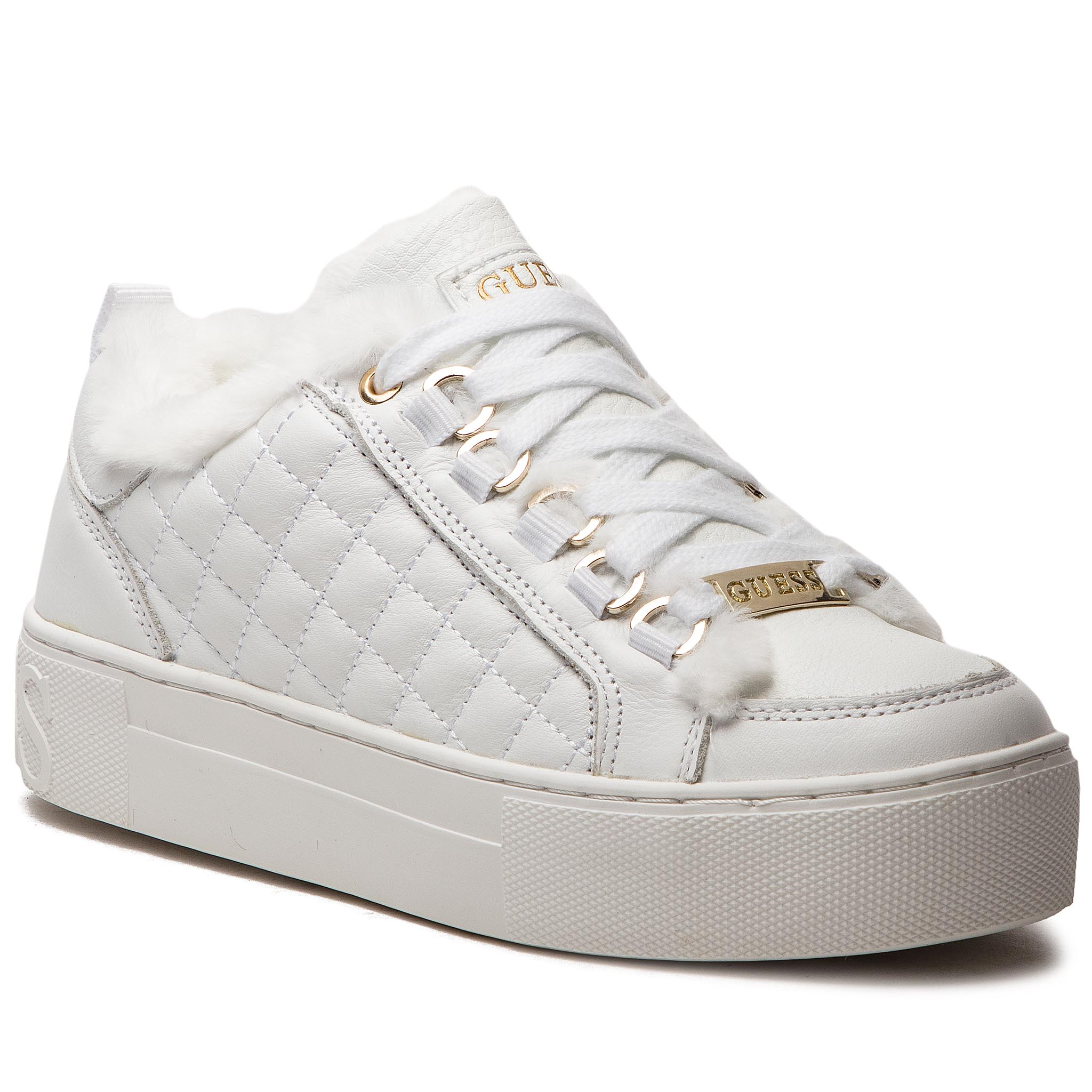 Sneakers GUESS - FLMET4 LEA12 WHITE