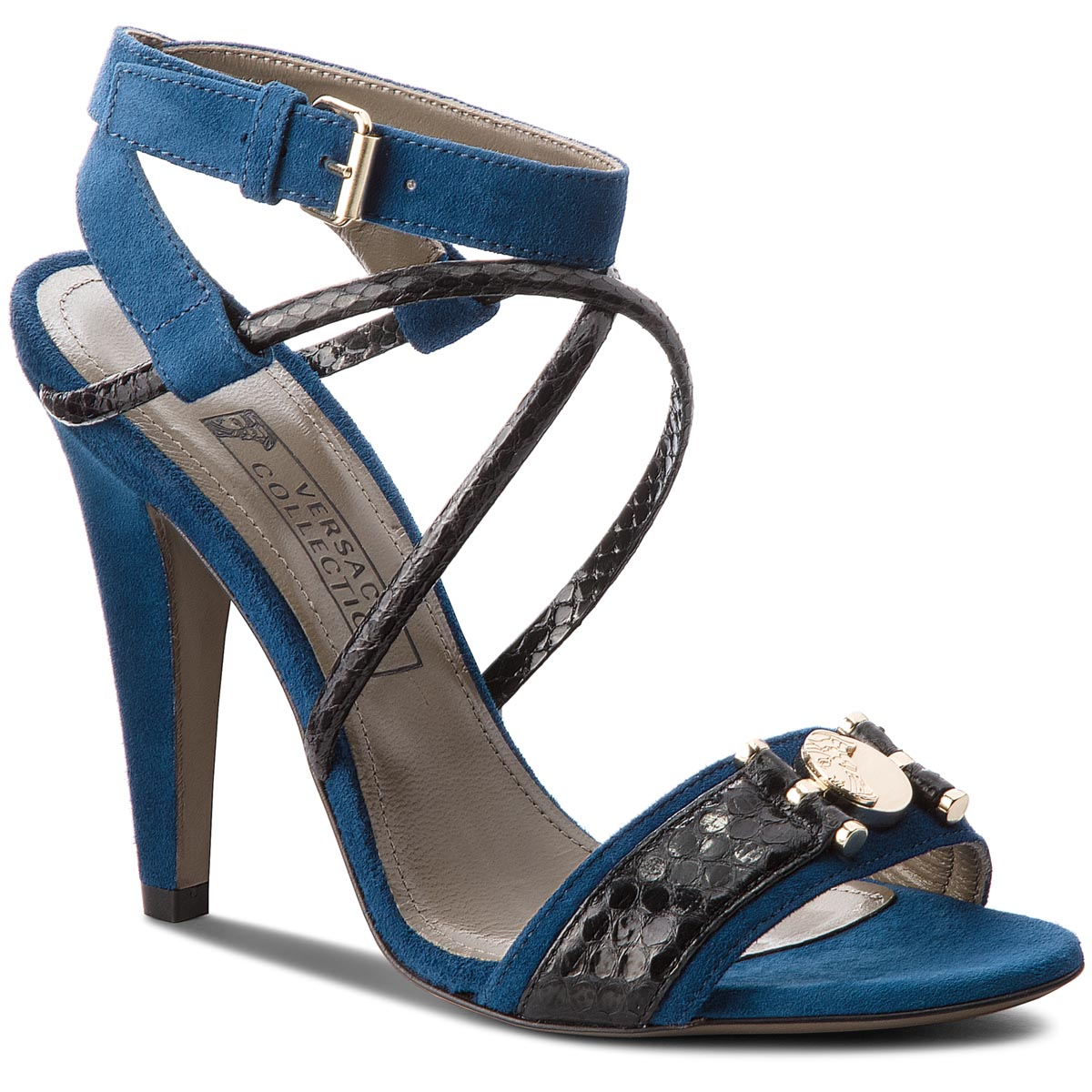 Sandale VERSACE COLLECTION - LSD5770 LRALA L492H Blue Navy/Black Oro