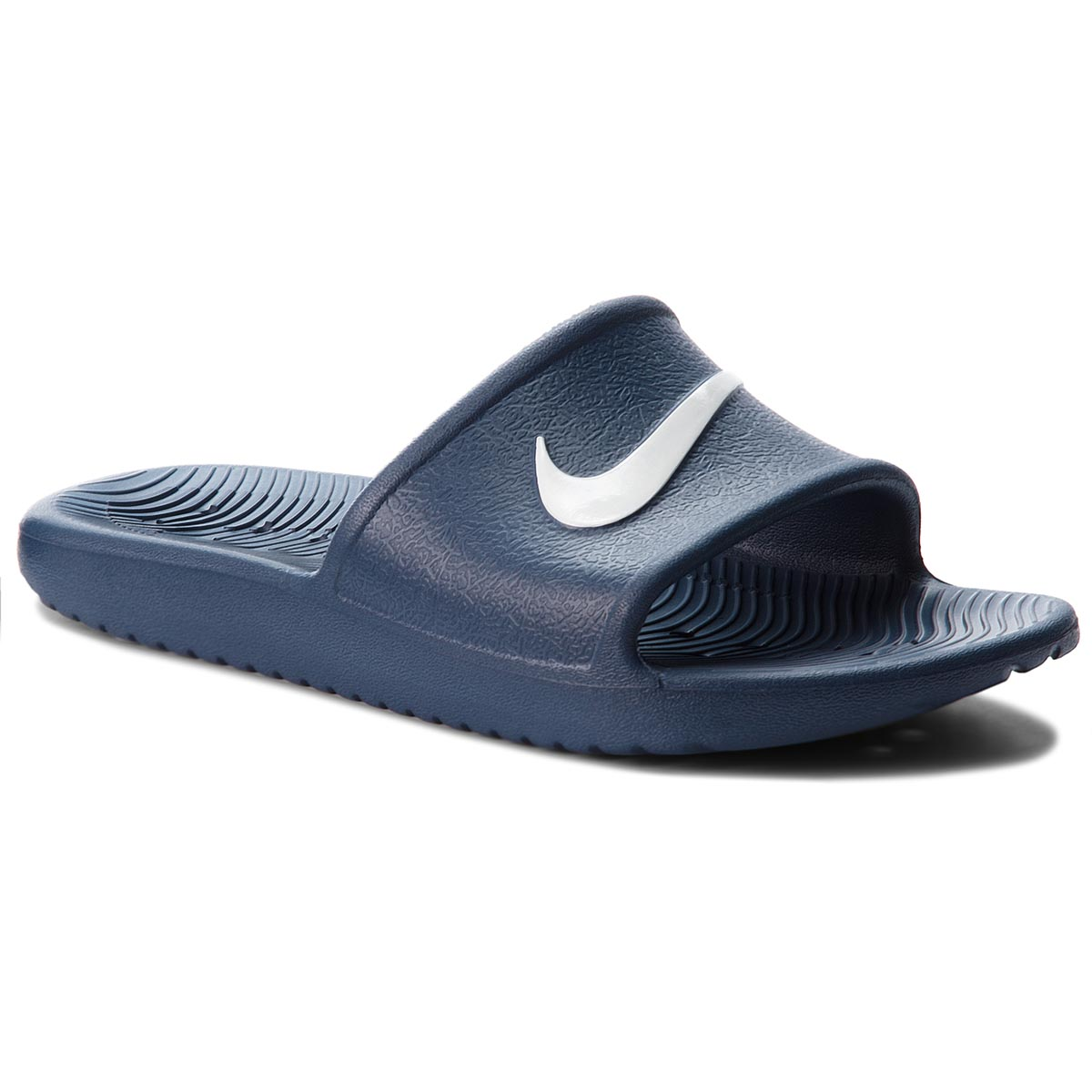 Șlapi NIKE - Kawa Shower (GS) AQ0899 401 Navy/White