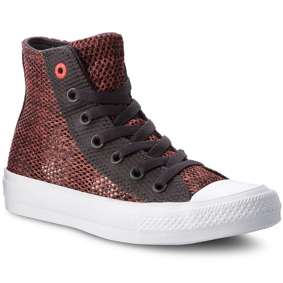 Teniși Converse - Ctas Ii Hi 155729c Almost Black/Ultra Red/White imagine epantofi.ro 2021