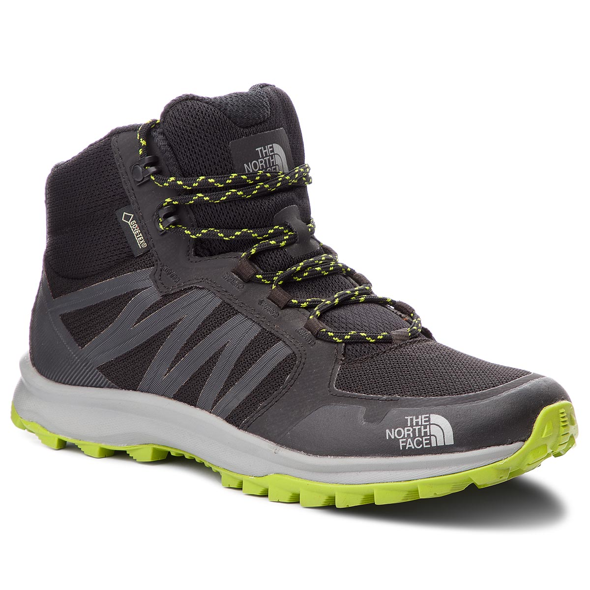 Trekkings THE NORTH FACE - Litewave Fastpack Mid Gtx (Graphic) GORE-TEX NF0A3FX2KW2 Thf Black/Lime Green