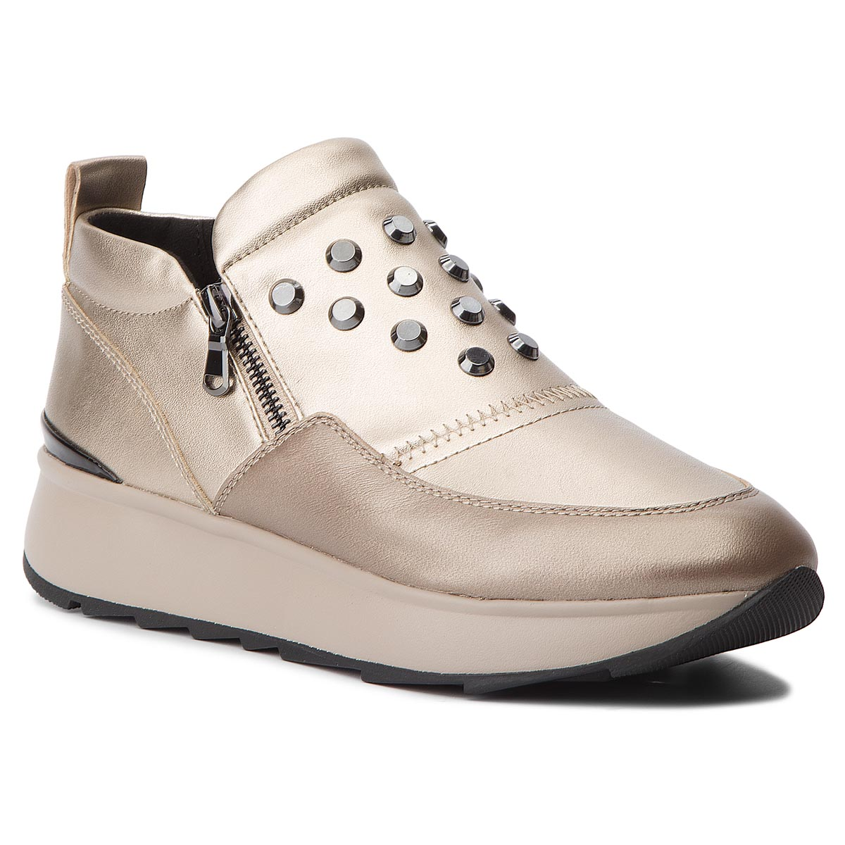 Sneakers GEOX - D Gendry A D745TA 0BVNF CB500 Champagne