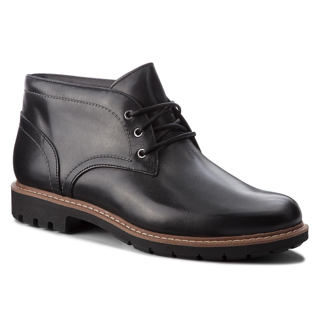 Ghete CLARKS - Batcombe Lo 261274747 Black Leather