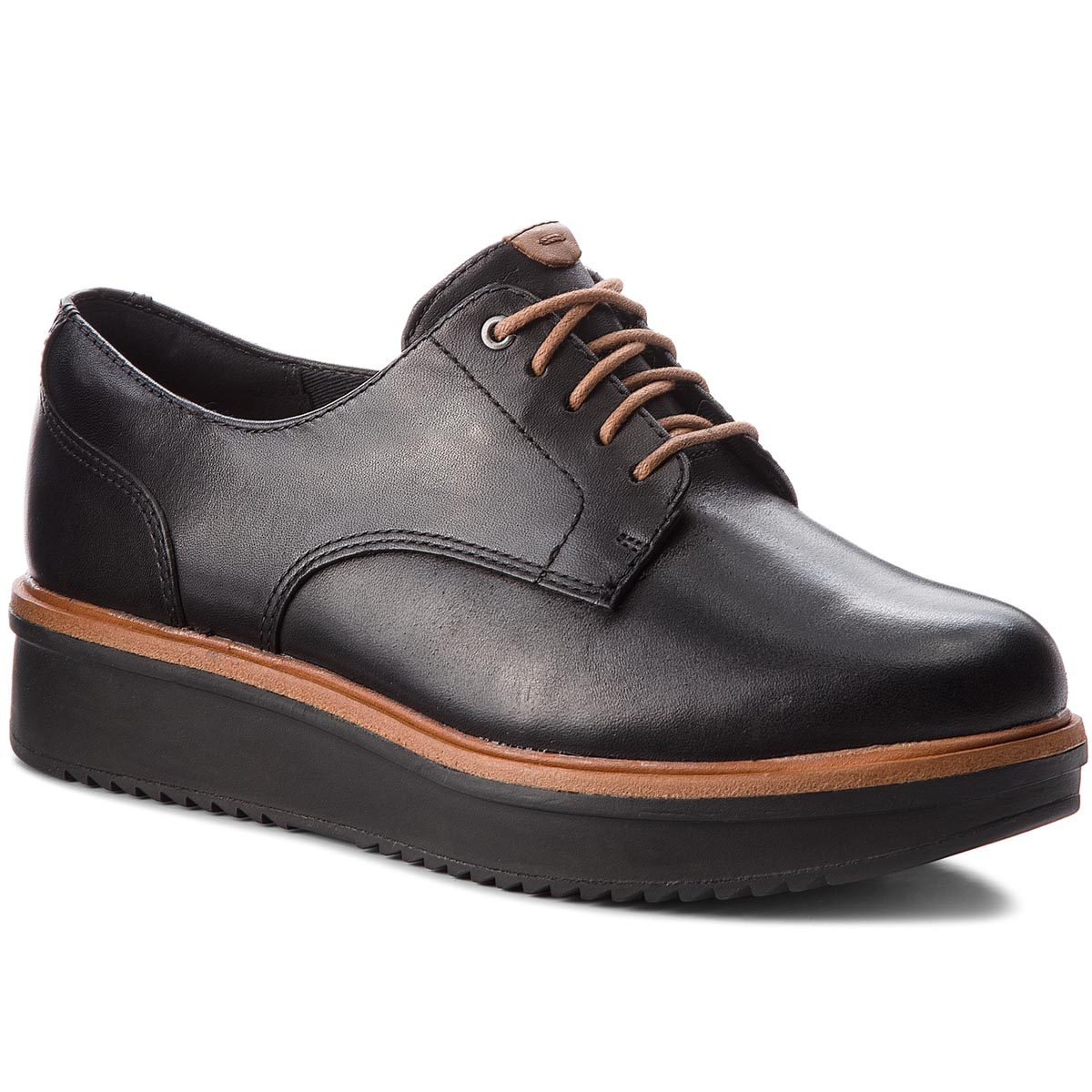 Oxford Clarks - Teadale Rhea 261284394 Black Leather imagine epantofi.ro 2021
