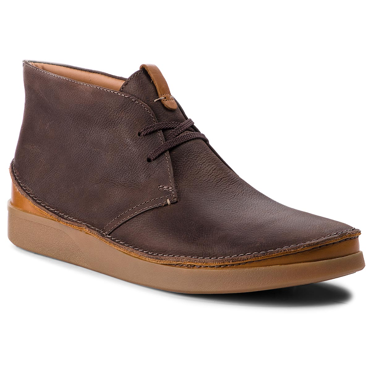 Ghete CLARKS - Oakland Rise 261353977 Dark Brown Leather