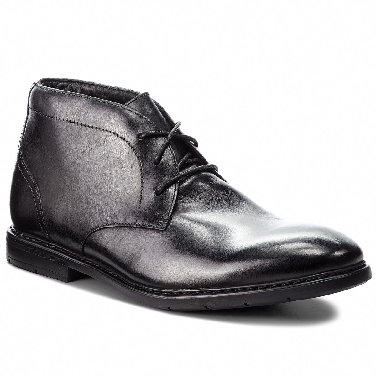Ghete CLARKS - Banbury Mid 261354247 Black Leather
