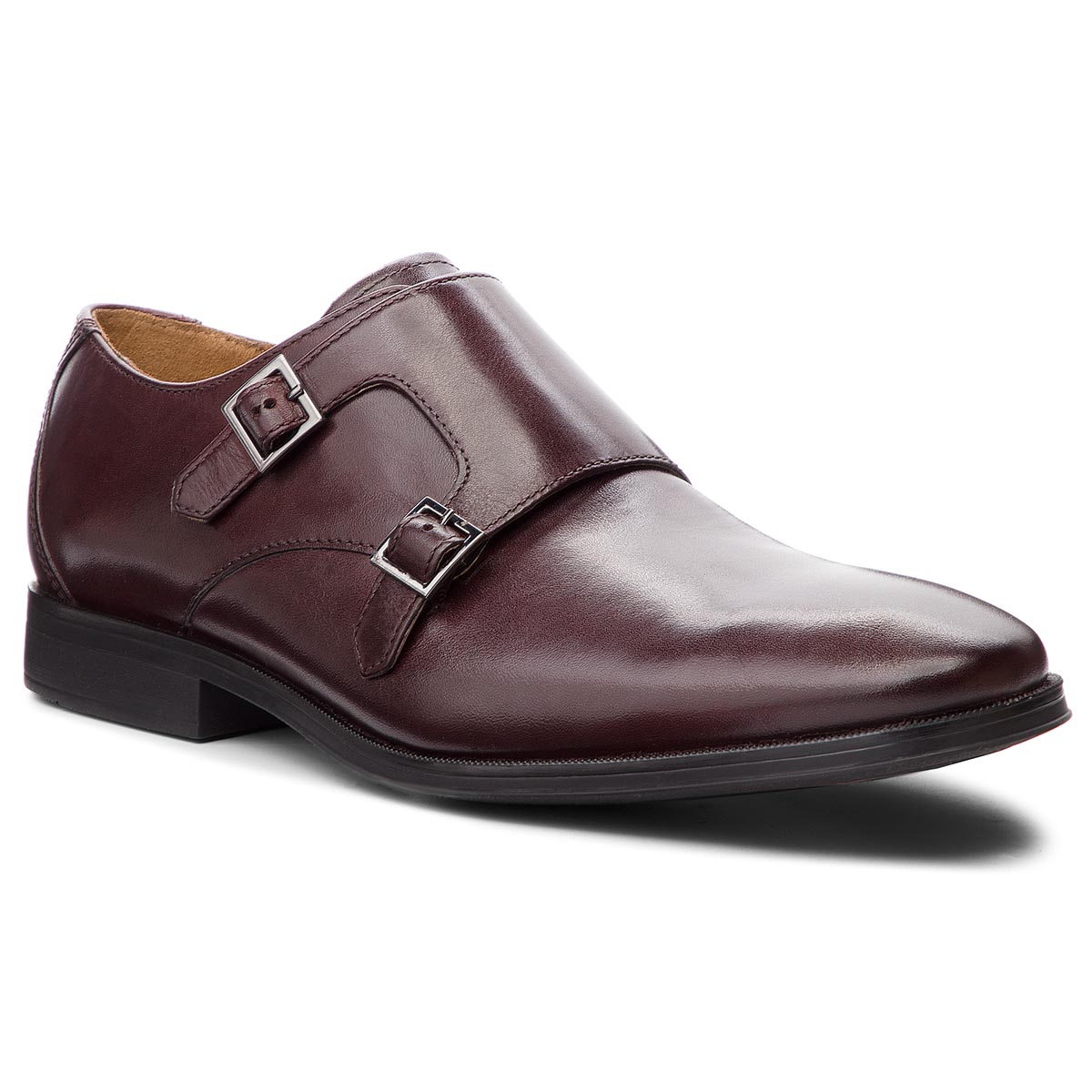 Pantofi CLARKS - Gilman Step 261362167 Burgundy Leather