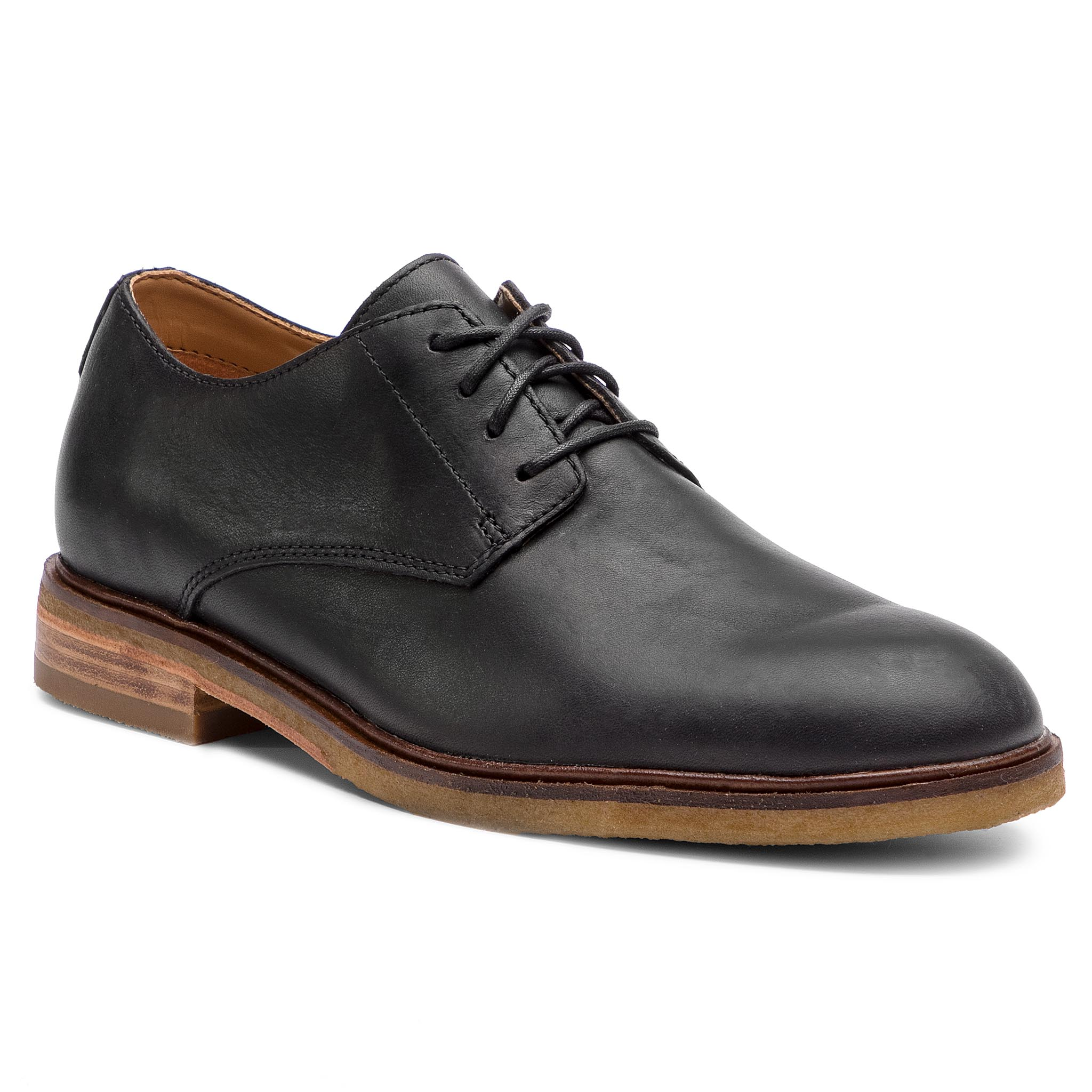 Pantofi CLARKS - Clarkdale Moon 261362537 Black Leather