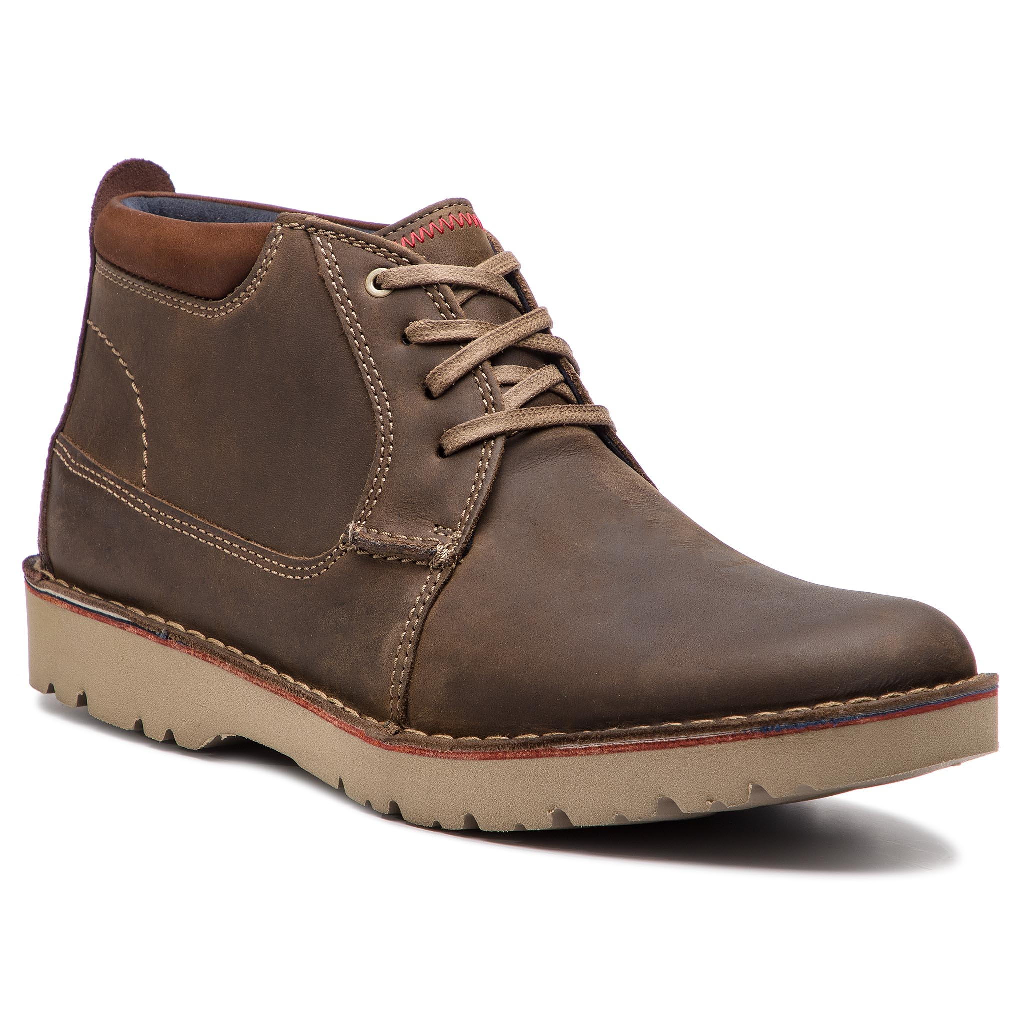 Ghete CLARKS - Vargo Mid 261366727 Olive Leather
