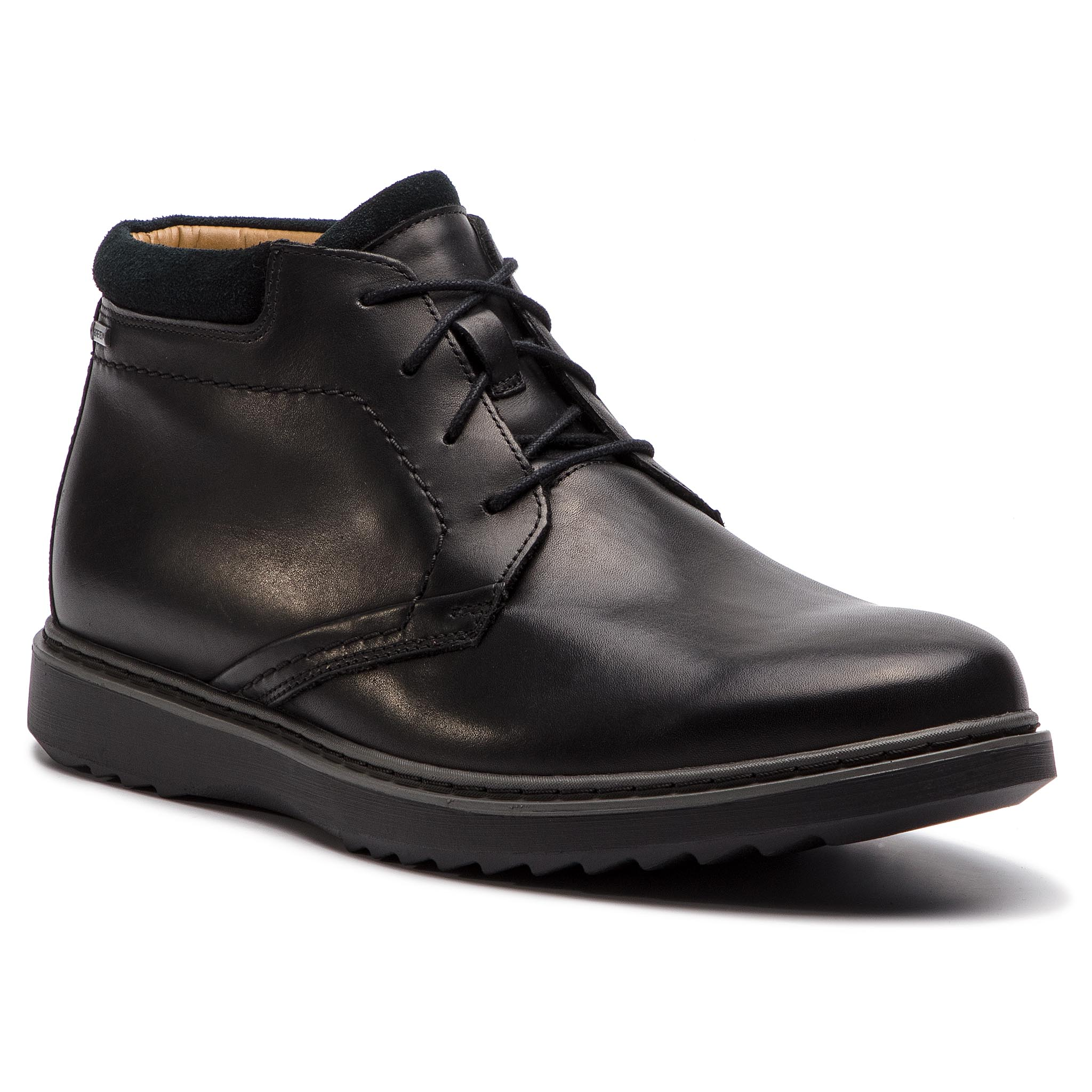 Ghete CLARKS - Un Geo Mid Gtx GORE-TEX 261368087 Black Leather