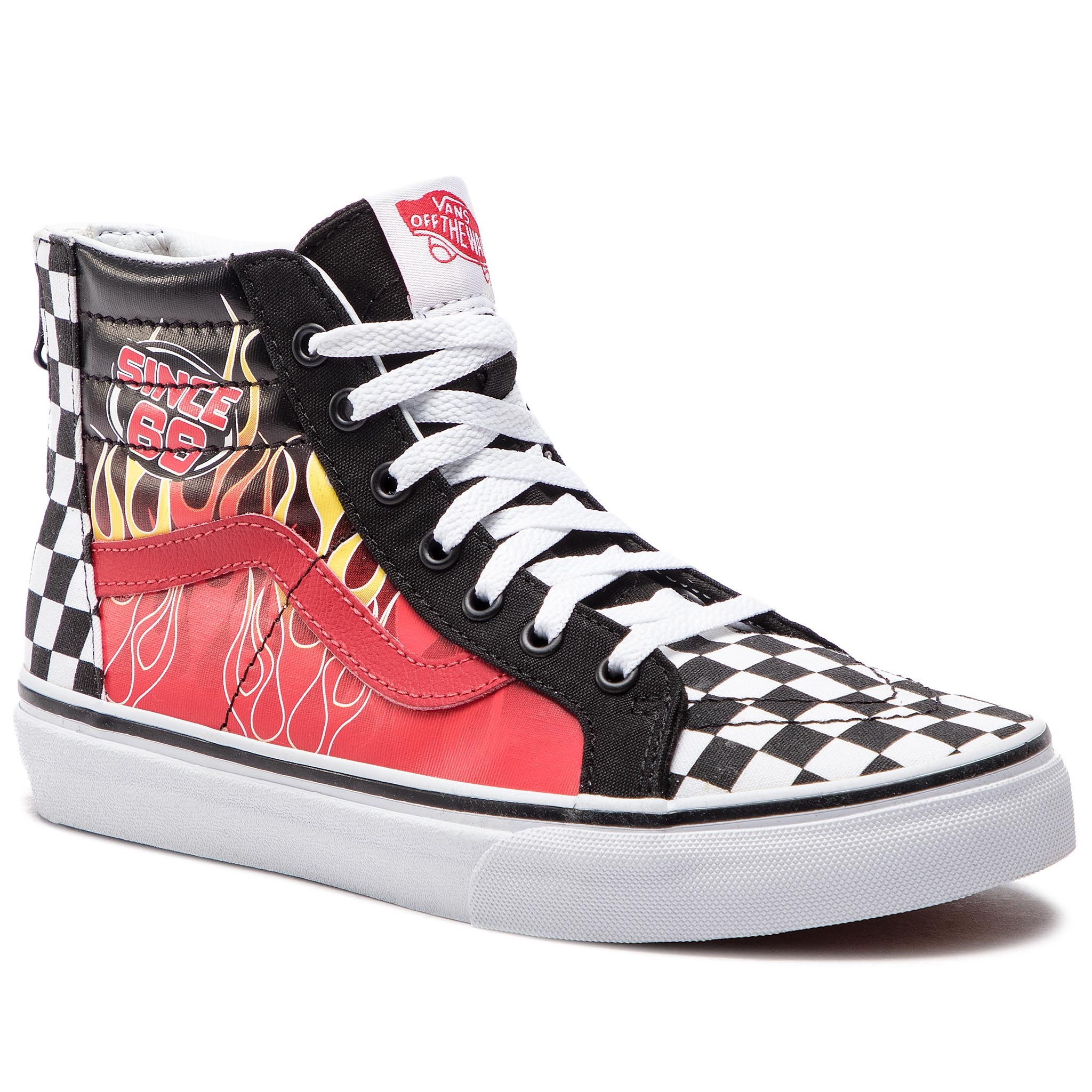 Sneakers VANS - Sk8-Hi Zip VN0A3276UJ61 (Race Flame) Black/Racing