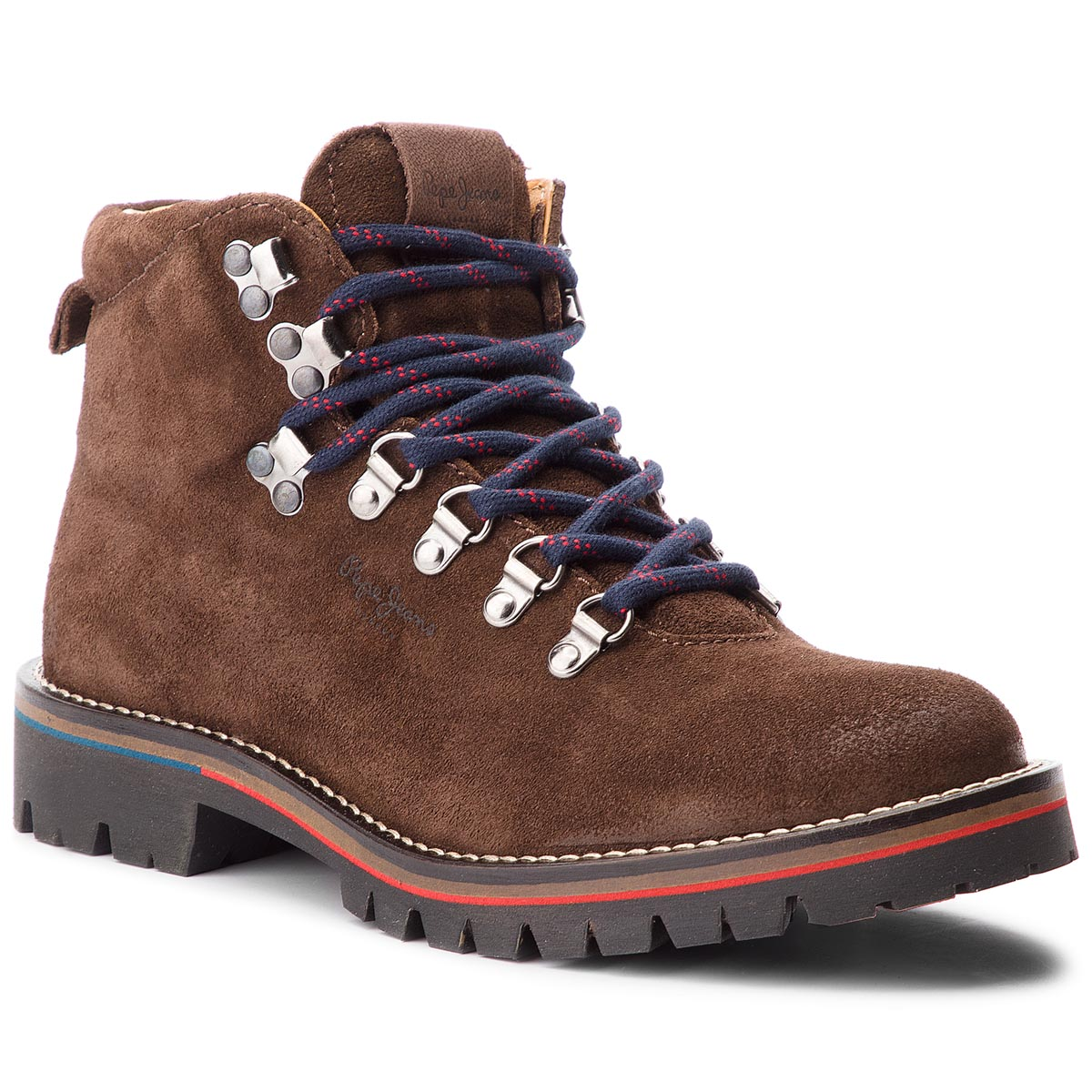Trappers PEPE JEANS - Mountaineer Suede PMS50168 Dk Brown 898