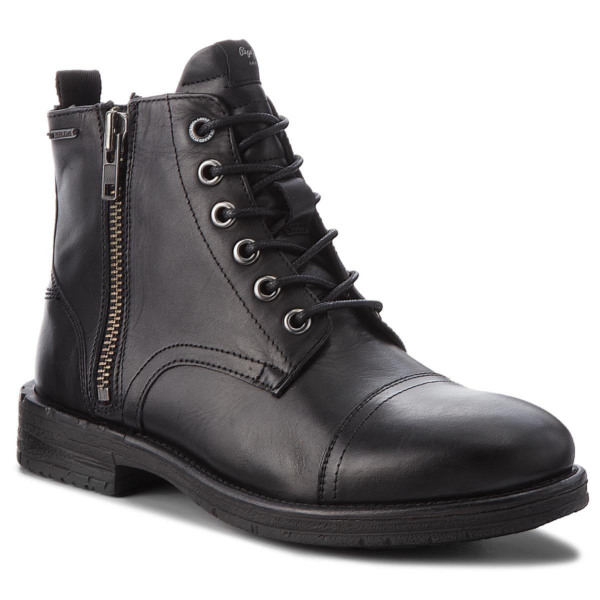 Cizme PEPE JEANS - Tom-Cut Med Boot PMS50163 Black 999