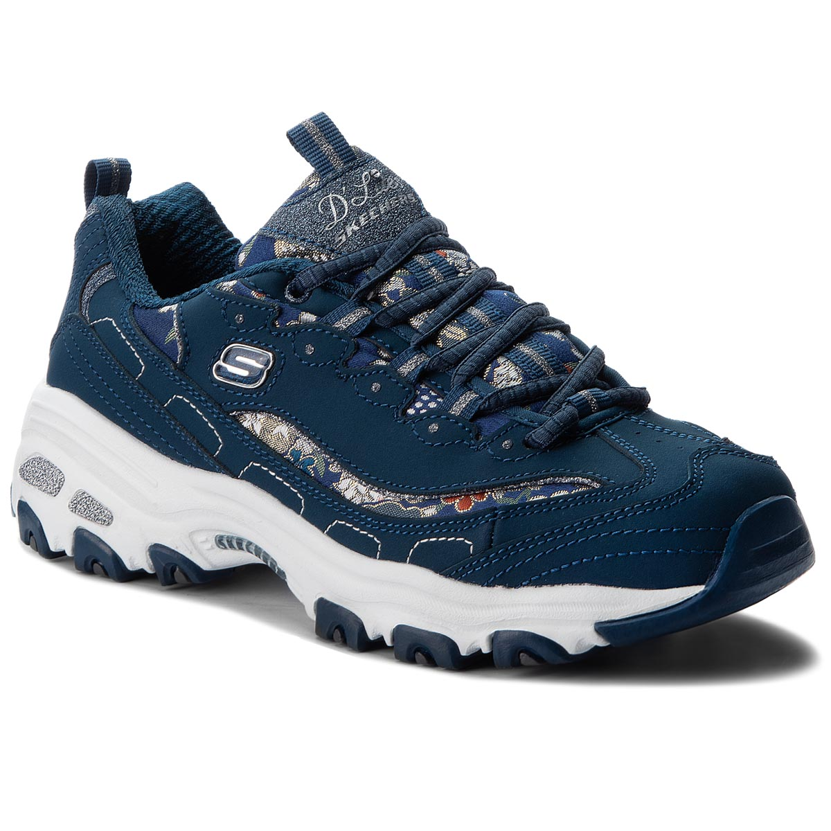 Sneakers SKECHERS - D'lites Floral Days 13082/NVY Navy